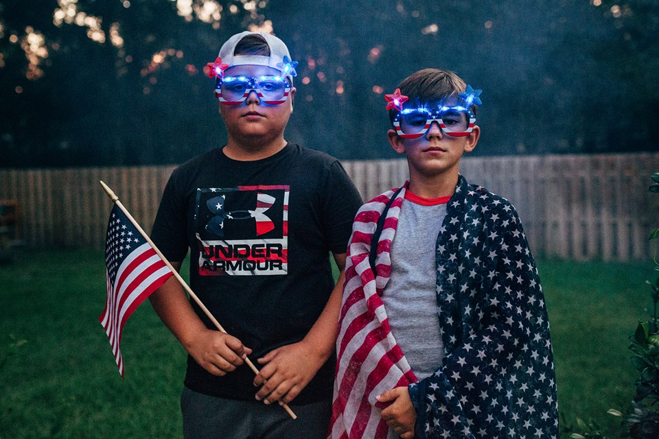 Kids on the 4th of July