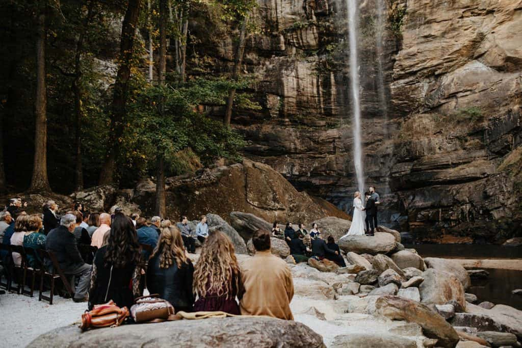 Outdoor Waterfall Wedding Venue