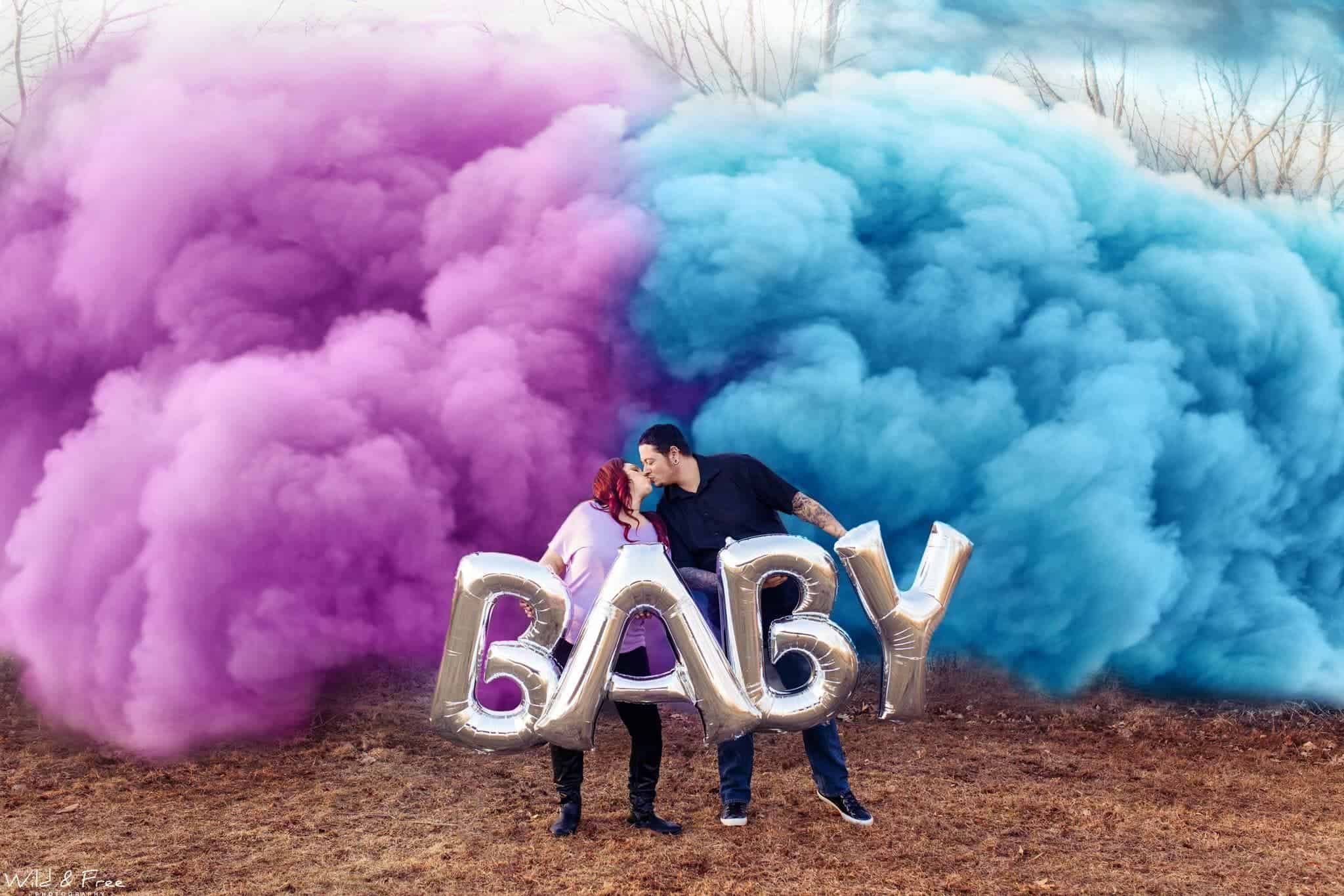 Baby announcement of two lovers