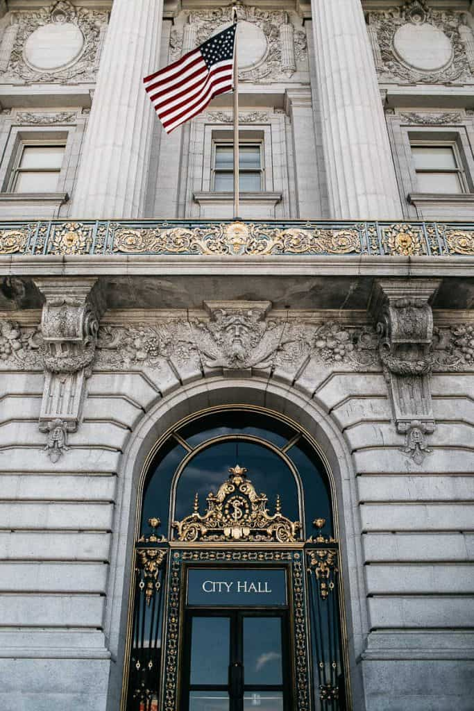 Entrance of the San Francisco City Hall