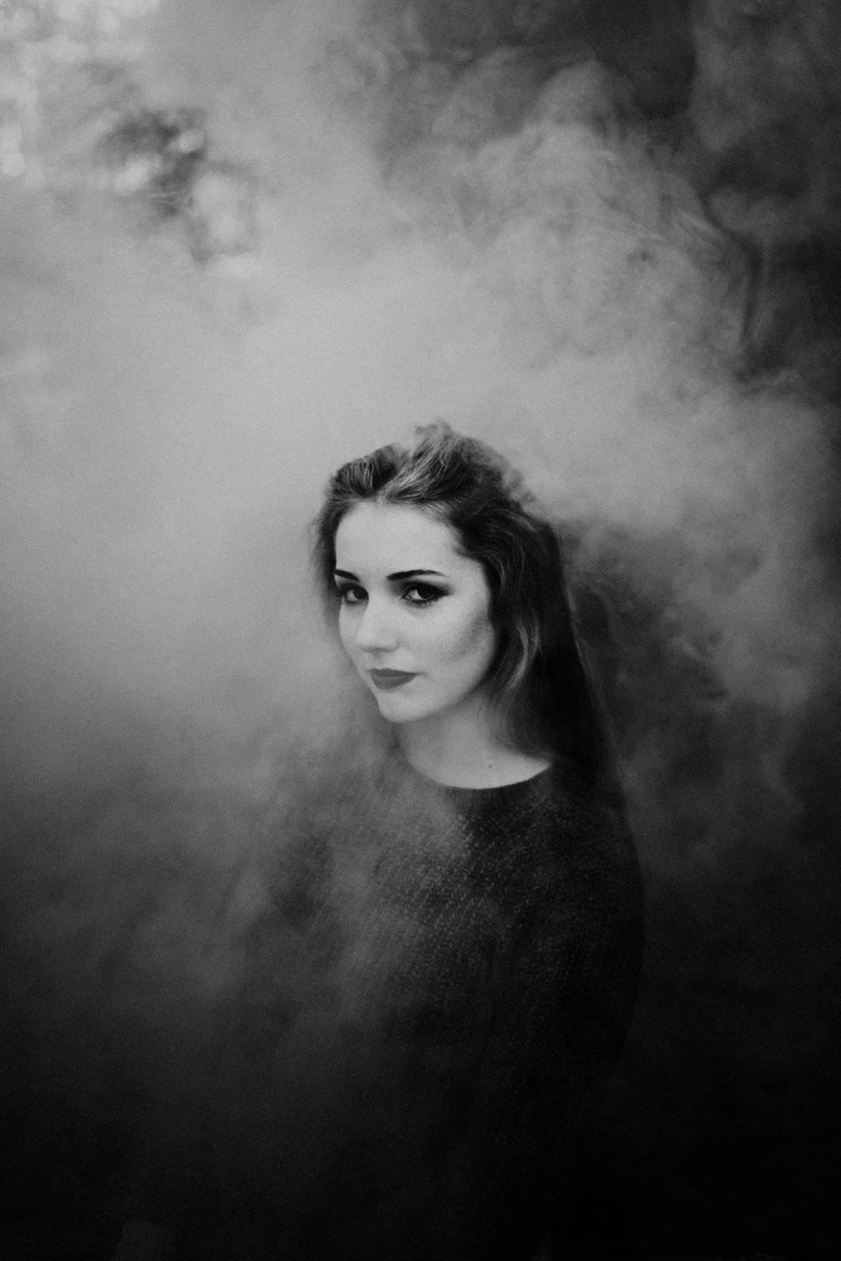 Black and White Smoke Bomb Photos