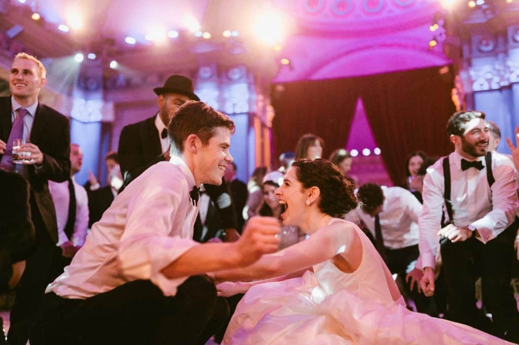 Bride and groom are going crazy on the dancefloor