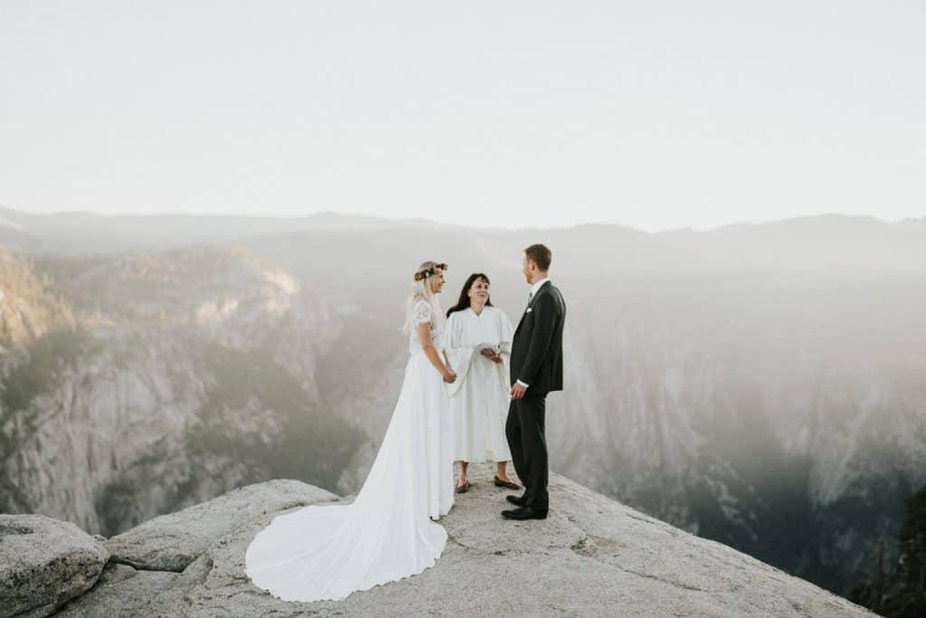 Intimate Sunrise Elopement At Taft Point in Yosemite