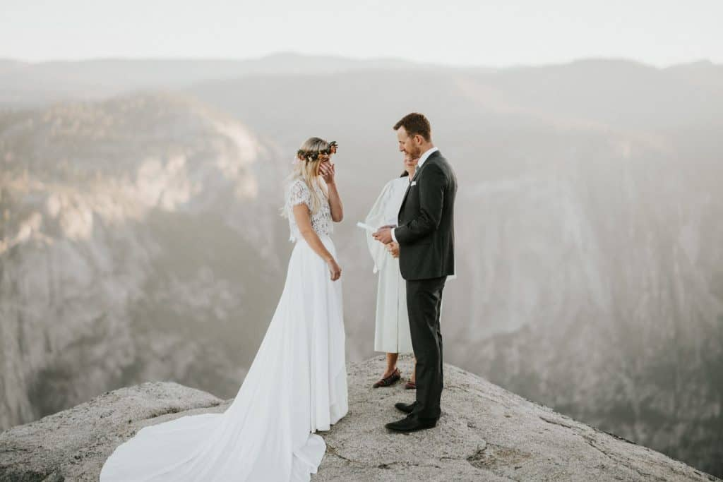 Elopement at Taft Point in Yosmite