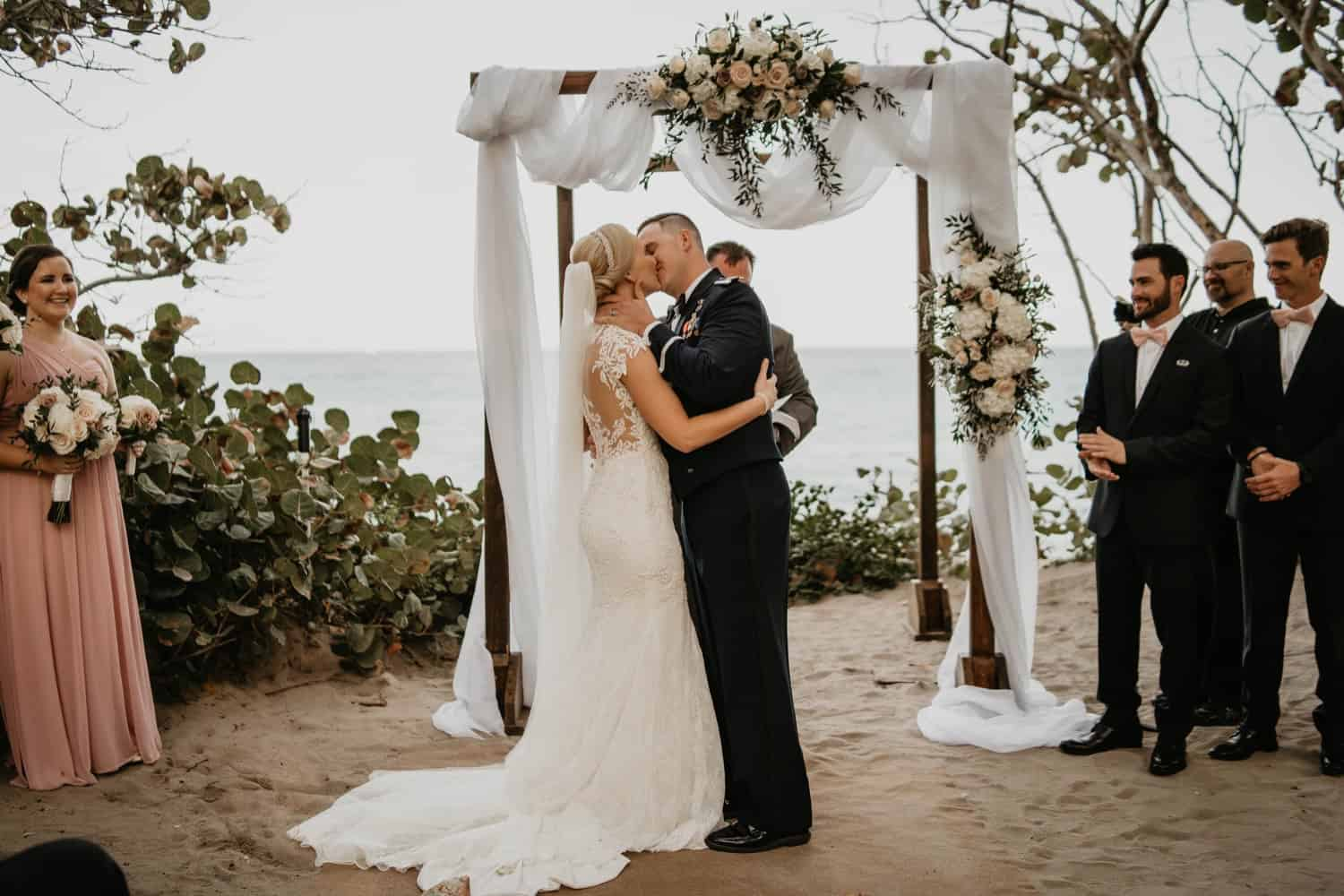 Moody & Intimate Beach Wedding in Florida