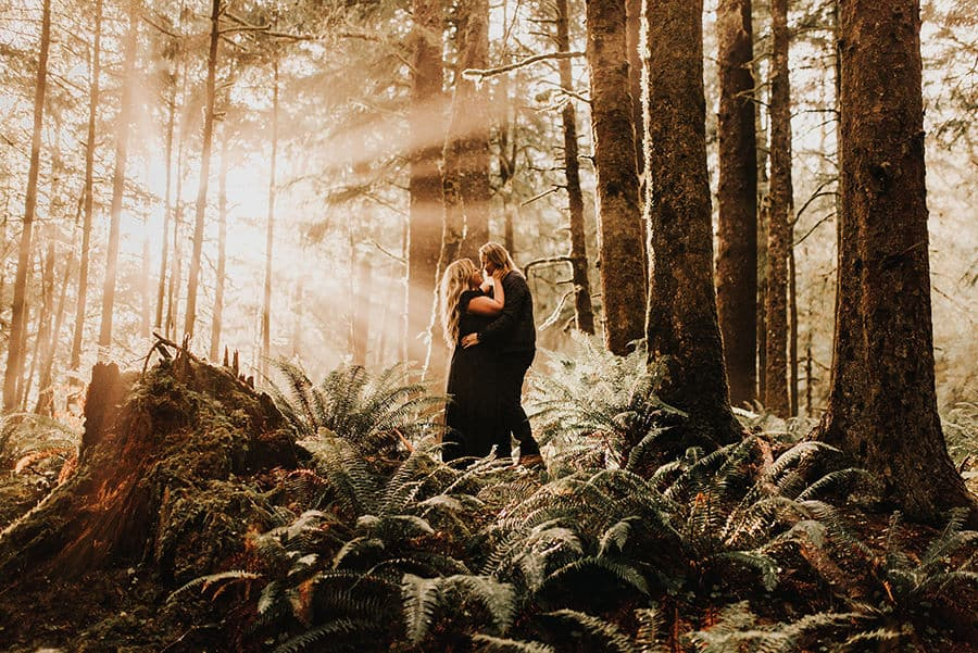 Couple Poses in the forest