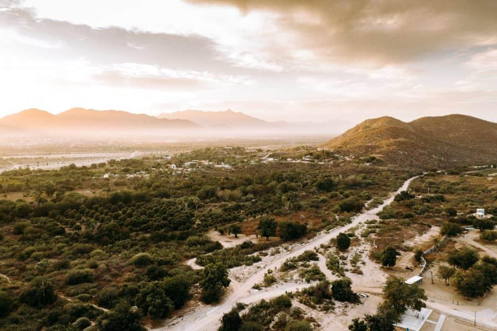 Drone Shot over Acre Baja Before Wedding