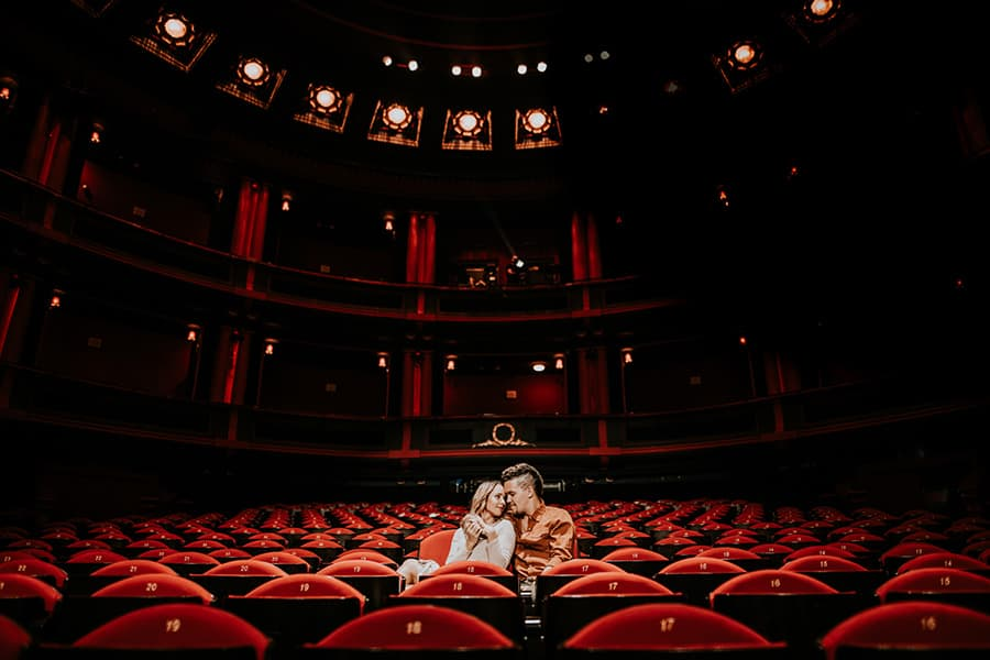 Couple Poses in an opera