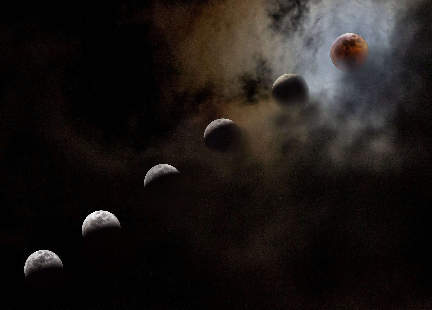 beautiful image of the lunar eclipse