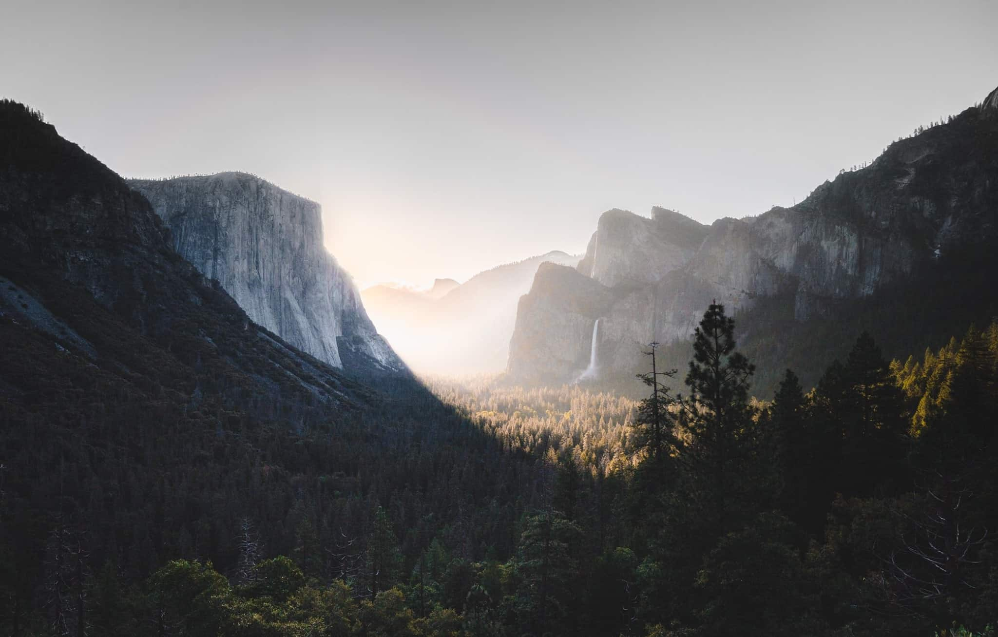 Beautiful image of Tunnel View in Yosemite