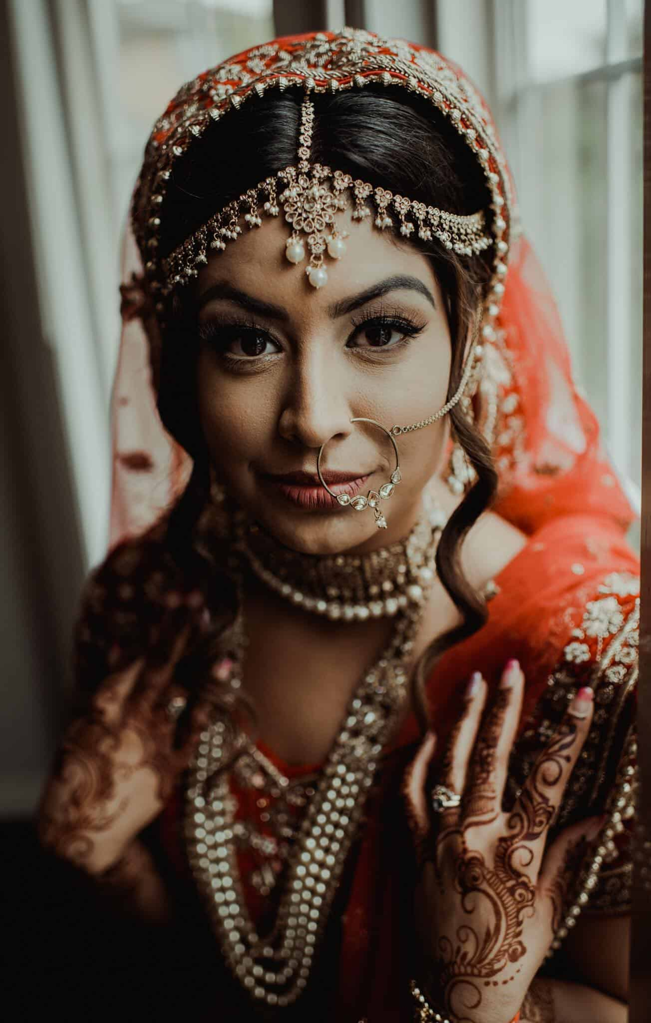 Wedding Portrait of an Indian Bride