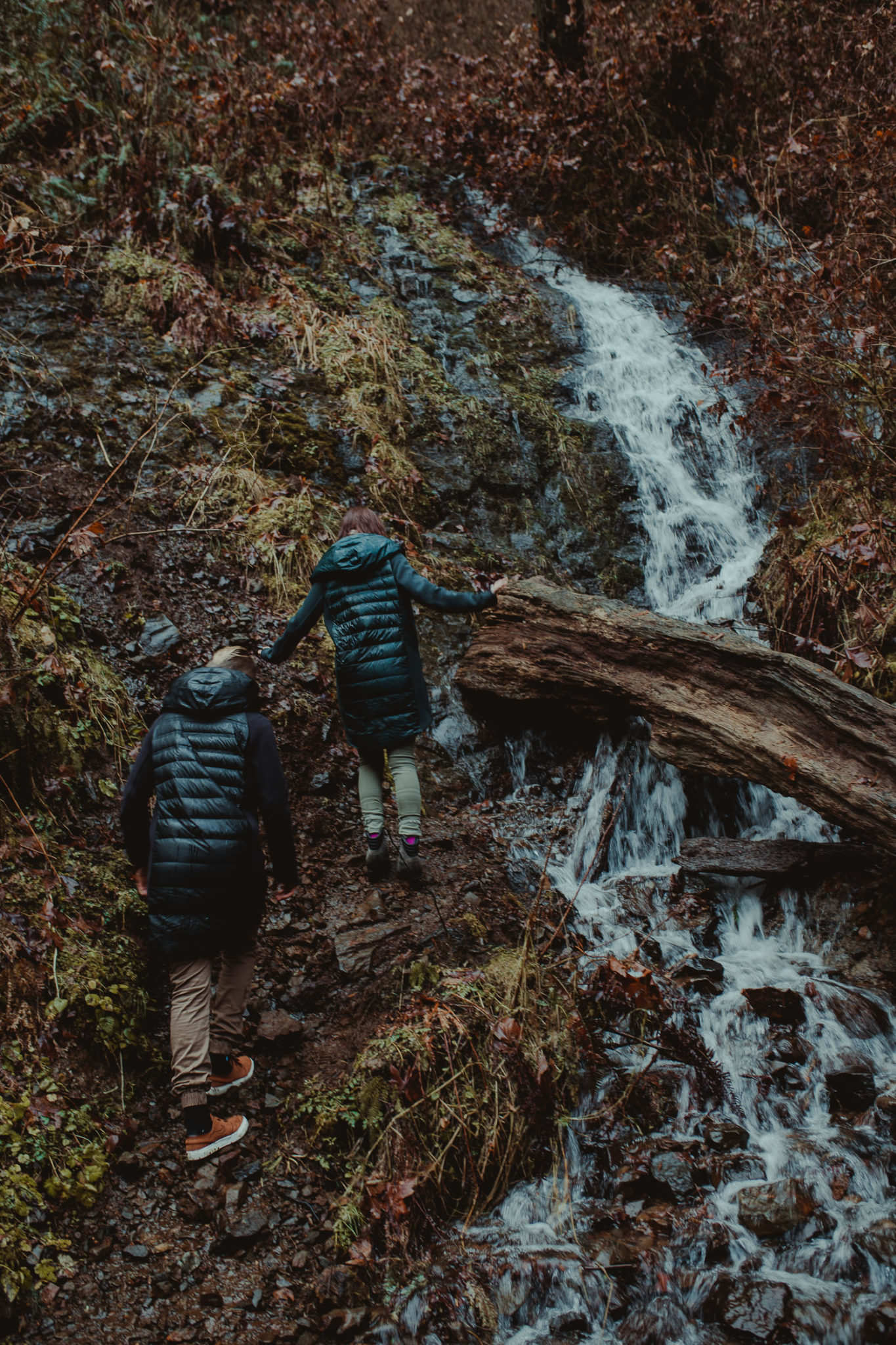 An Adventurous And Intimate Waterfall Engagement