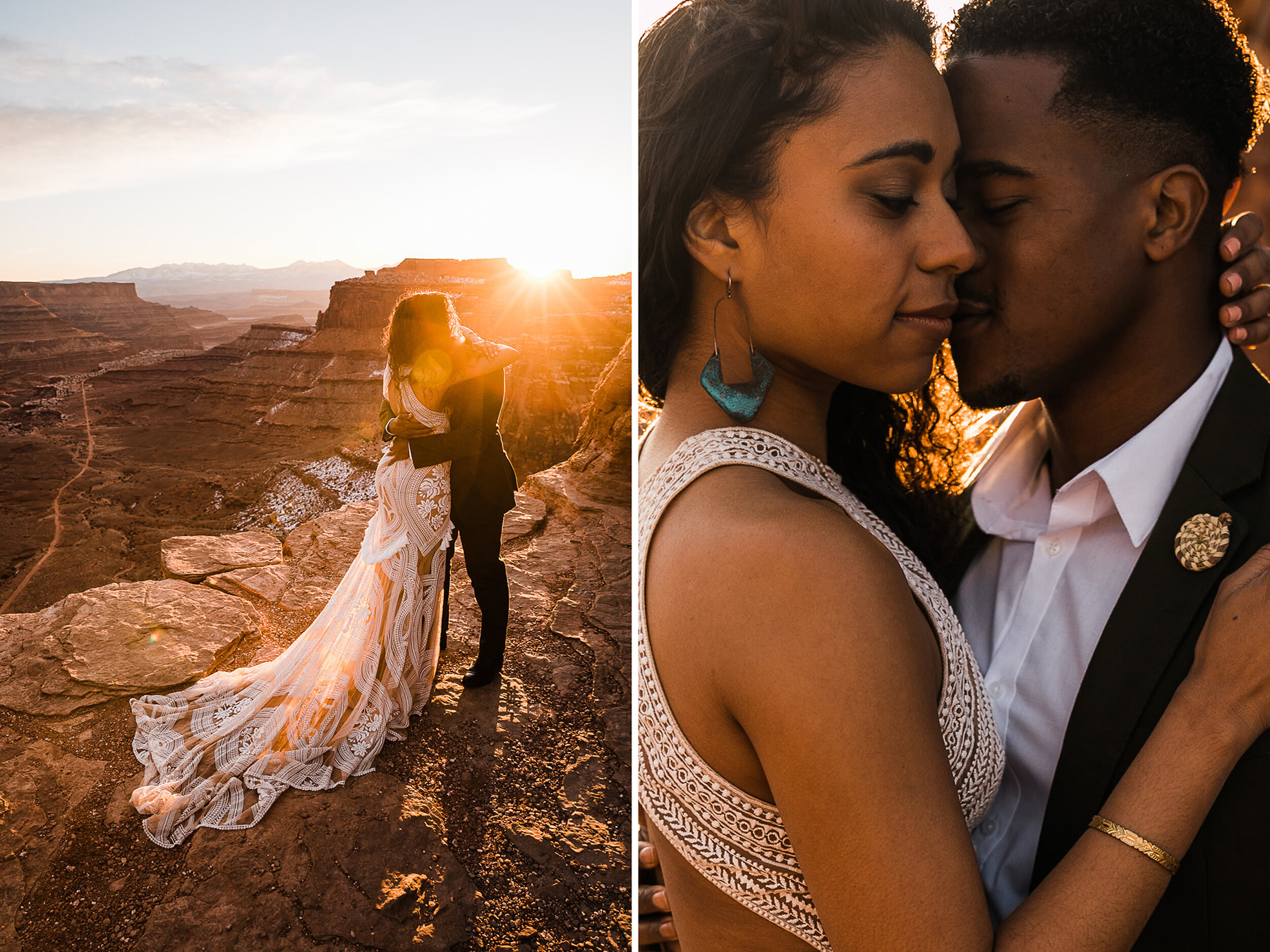 A Styled Moab Elopement Shoot Turns Into A Real Proposal