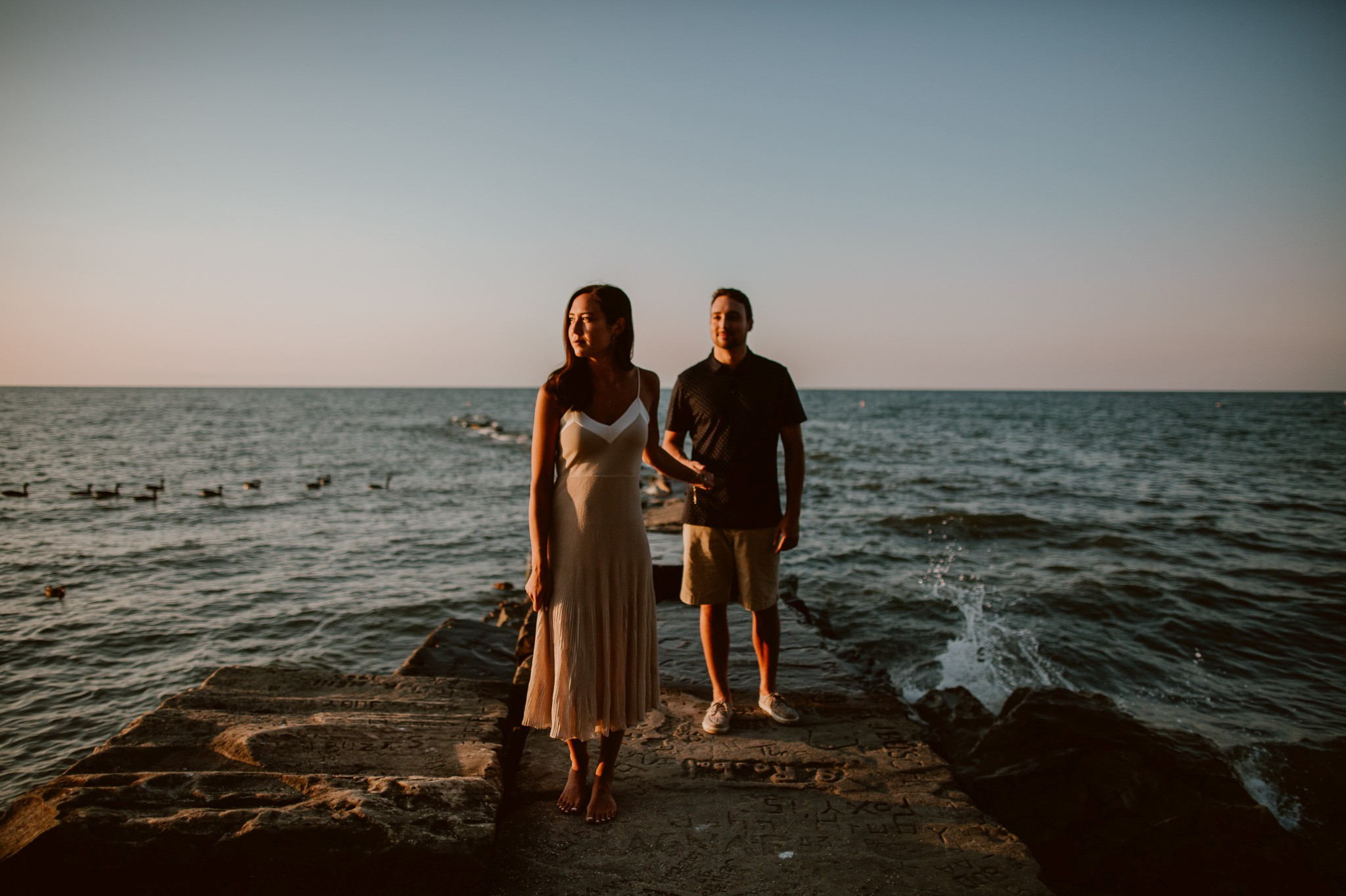 A Sunset Engagement Shoot At Lake Erie