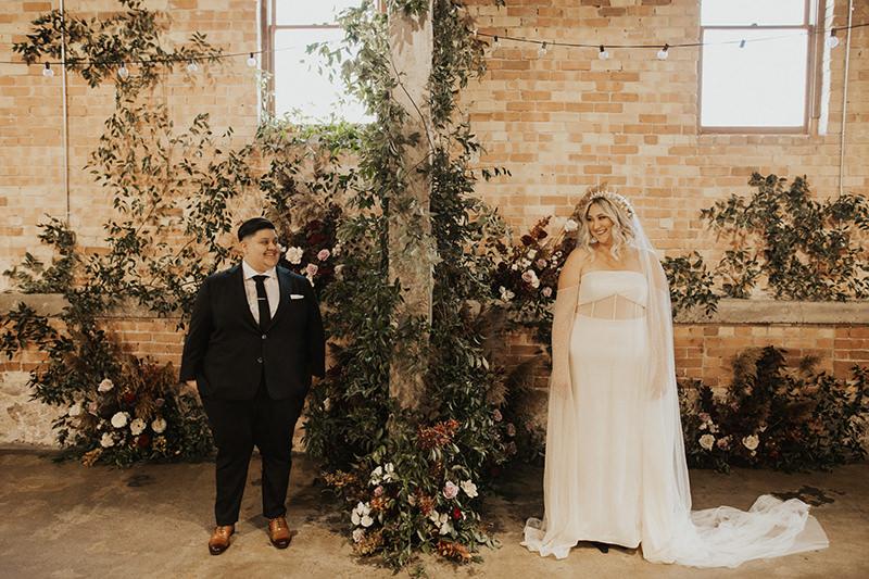 A Modern & Beautiful Industrial Wedding In Utah