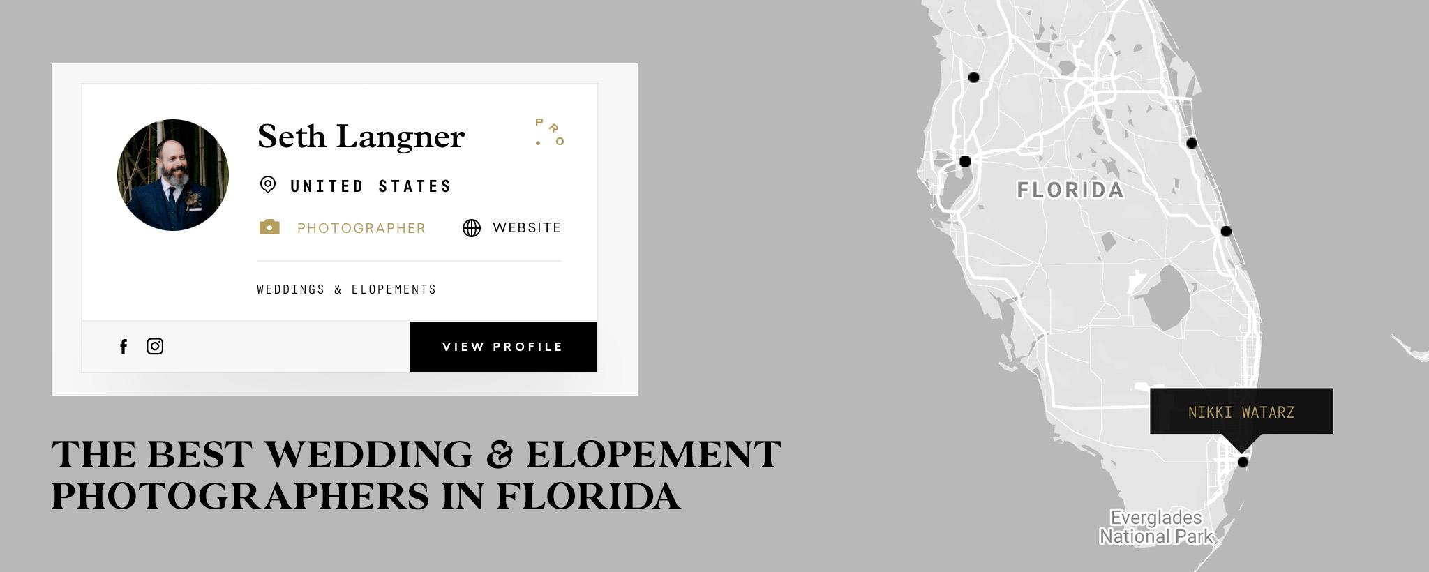 Best Elopement Photographers in Florida