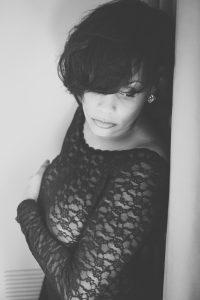 Beautiful portrait of a woman taken by a Black Boudoir Photographer.