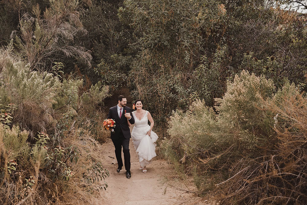 A couple walking at Mission Trails State Park