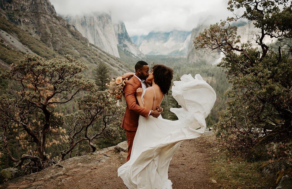 Kissing Couple at Yosemite