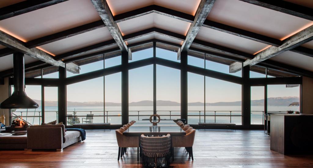 Villa Harrah offers stunning views of the lake in Glenbrook.