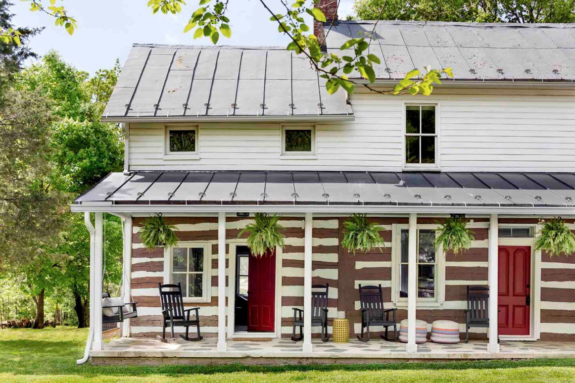This historic and stylish farmhouse is located on Harpers Ferry, West Virginia.