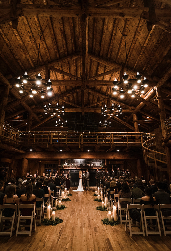 A wedding couple is getting married at the Sunriver Resort in Bend, Oregon.