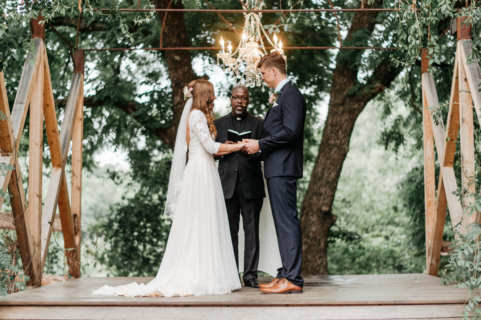 A wedding couple is getting married at Southwind Hills, Oklahoma.