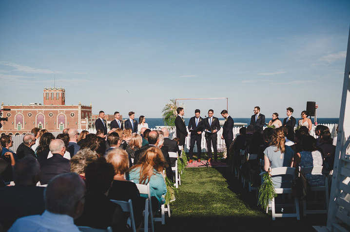 A wedding couple is getting married at the Asbury Hotel in New Jersey.