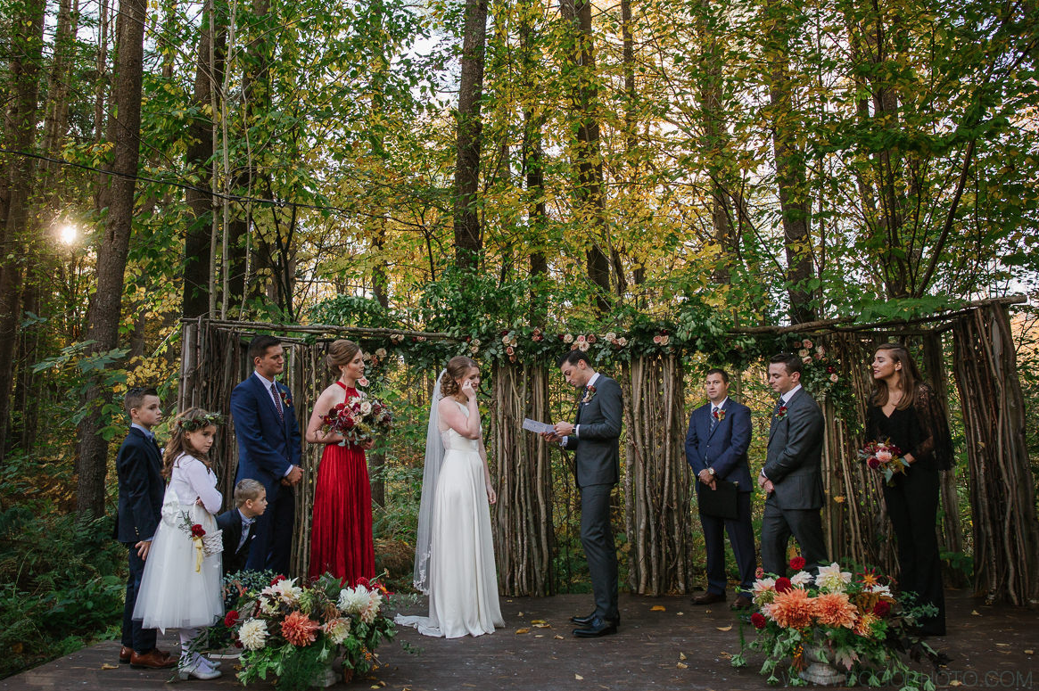 A wedding couple is getting married at the Inn in Weathersfield, Vermont.