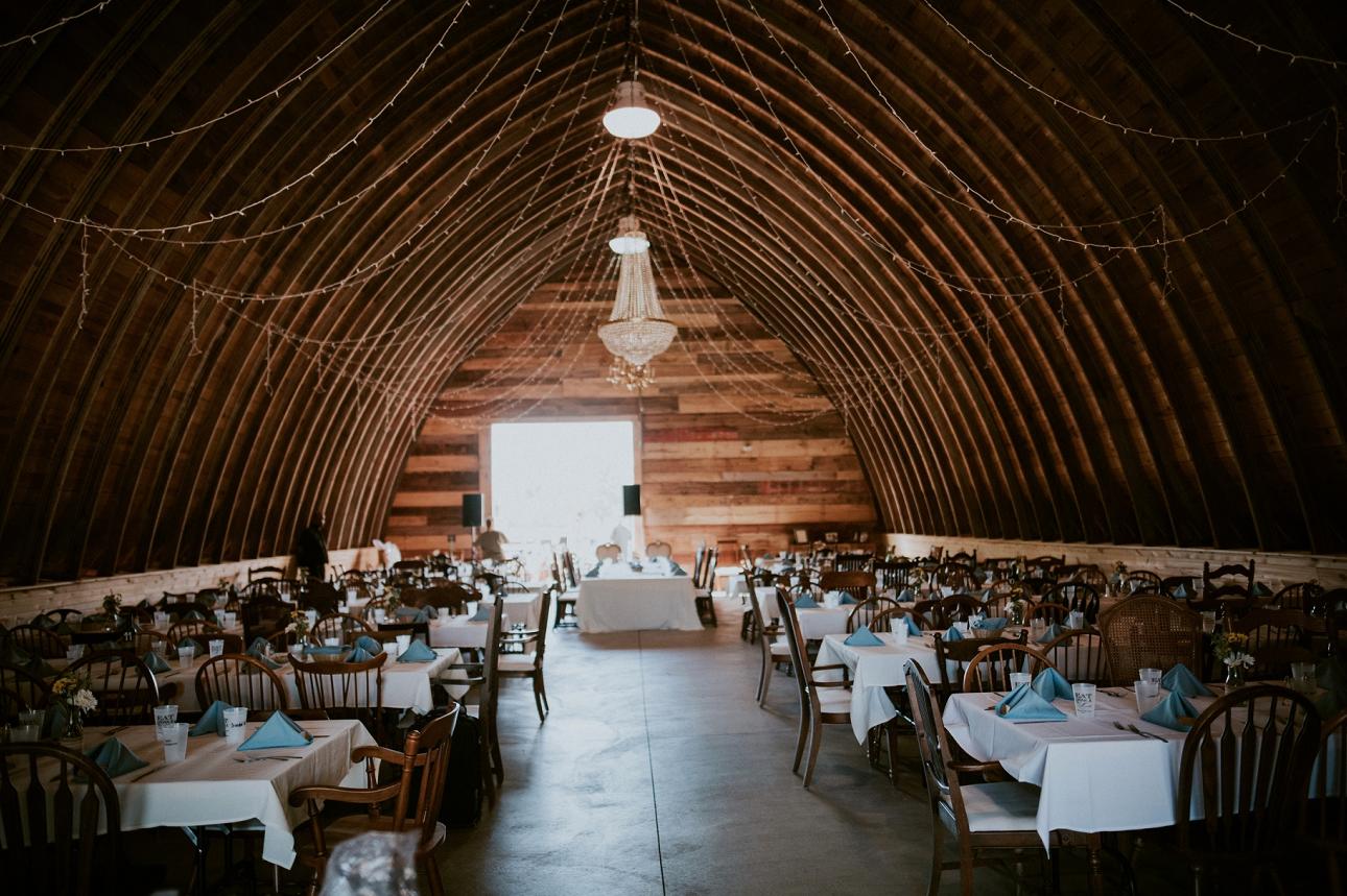 The Pioneer Creek Farm, a wedding venue in Wisconsin.