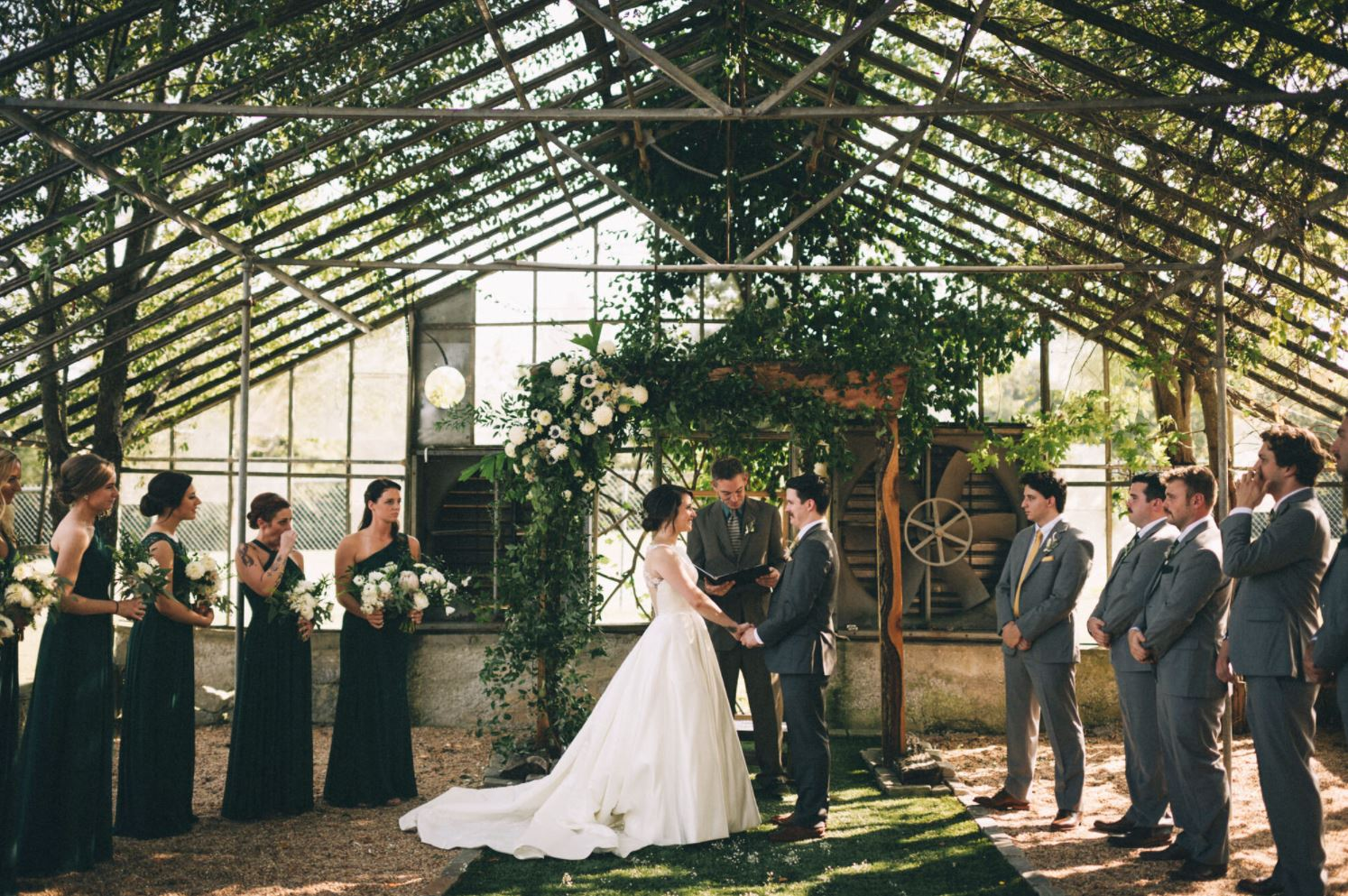 A wedding couple is getting married at the 3rd turn Oldham Gardens in Kentucky.