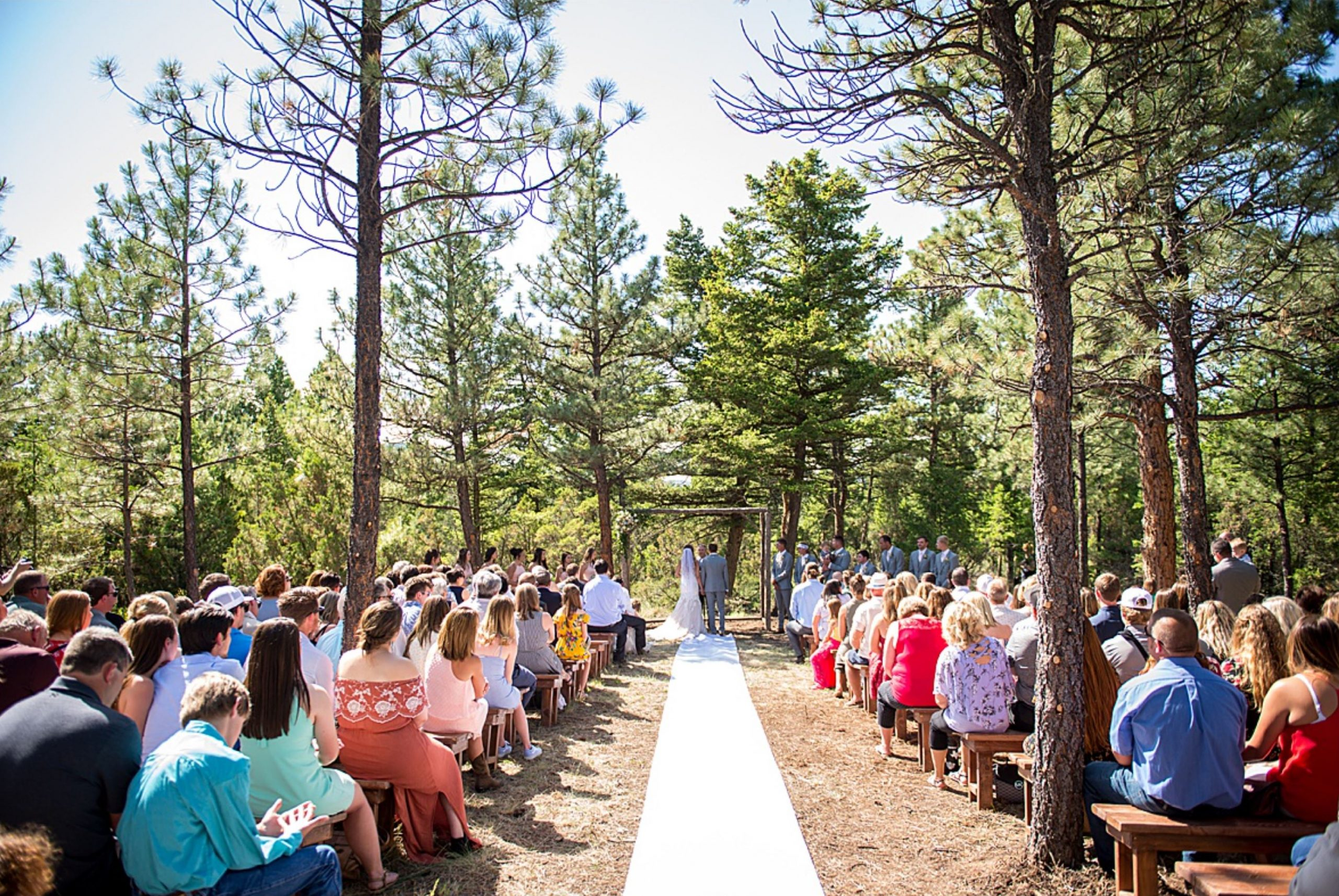 A wedding couple is getting married at the Summer Star Ranch in Montana.